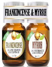 Organic frankincense and myrrh set--good items for a first aid box.