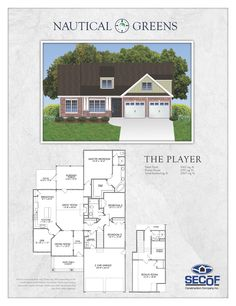 The Player. Built in a golf community near the beach. 2307sq ft. 3br, den, and a bonus room over garage! $275,000 http://secofconstruction.com
