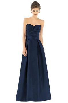 Long Navy Bridesmaid Dress | Alfred Sung D537 Bridesmaid Dress | Weddington Way
