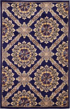 Astoria Grand Marmont Navy Blue Area Rug Rug Size: x Navy Blue Area Rug, Blue Area Rugs, Aubusson Rugs, Online Home Decor Stores, Joss And Main, Animals For Kids, Throw Rugs, Colorful Rugs, Color Show
