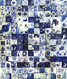 blue and white | cosmology of blue and white tile workshop in escola catolica estrela ...