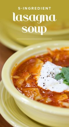 This lasagna soup recipe make for an easy Italian dinner. All it takes are a few ingredients.