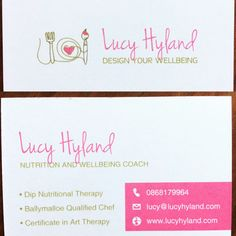 Big thanks to for my new business cards. They look fab