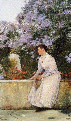 In the Garden     Childe Hassam · 1888-1889