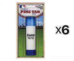 Grips 181325: Franklin Sports Mlb Baseball Batter S Pine Tar Stick Heavy Duty Grip (6-Pack) -> BUY IT NOW ONLY: $43.91 on eBay!