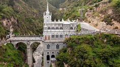 A sky-high Colombian sanctuary, Las Lajas Sanctuary floats 100m above a gorge in the Guáitara River.
