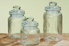Vorratsglas 3er Set, Höhe 15 bis 23 cm: Amazon.de: Küche & Haushalt