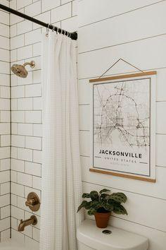 Home Renovation Inspiration Bathroom Renovation Reveal — Carla Natalia Cheap Bathroom Remodel, Bathroom Renovations, Restroom Remodel, Shower Remodel, Architecture Renovation, Home Renovation, Vintage Modern, Simple Bathroom, Bathroom Ideas