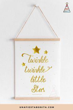 Lámina decorativa Twinkle Twinkle Little Star