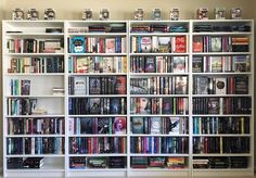 Mybookpics - thereaderbee: My new bookshelves are up, and I'm...