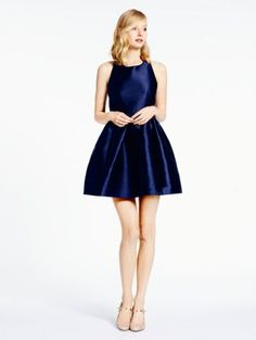 bow back fit and flare dress - kate spade new york