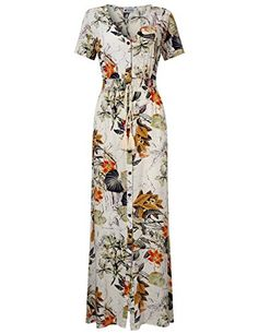 Blouses & Shirts Tops, T-Shirts & Blouses Primi Summer Cream with Orange Floral Print Kimono by Maxi Cardigan Cover up