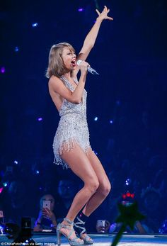 All the glitz: One skimpy number saw the Blank Space hit-maker bare her legs in all their ...
