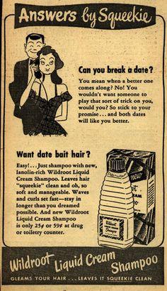 Wildroot Liquid Cream Shampoo; 1949