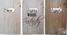 El envejecimiento de madera de forma instantánea |  Diseño del estilo de país |  countrydesignstyle.com