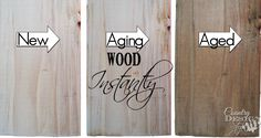 Aging Wood Instantly   Country Design Style   countrydesignstyle.com