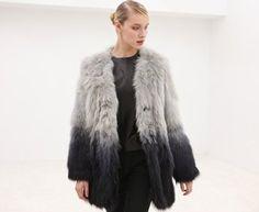 ShopStyle: Fade Long Fur Coat