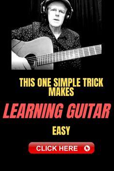 Learn Guitar - This Simple Trick Makes It Easy - (Free Tip) Guitar Tabs, Music Guitar, Guitar Chords, Playing Guitar, Learning Guitar, Ukulele, Violin, Guitar Songs For Beginners, Basic Guitar Lessons