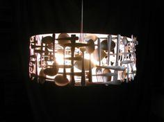 beautiful - woven silverware #lamp