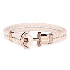 Bracelet ancre en cuir reconstituè dans différentes couleurs - PAUL HEWITT
