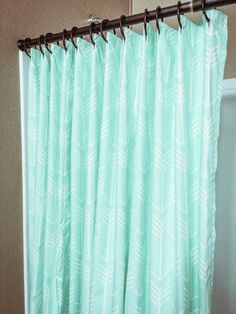 Solid Mint Green Shower Curtain