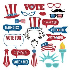 Election Photo Booth Props Collection–Printable Instant Download–Photo Booth…