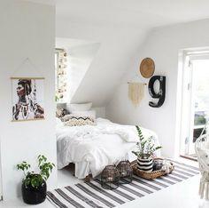 White attic bedroom | photo by Kirsten Skovbon Follow Gravity Home: Blog - Instagram - Pinterest - Facebook - Shop