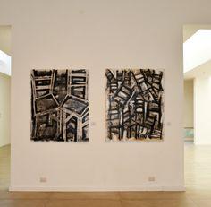"""""""Historias Acumuladas"""" by Iliana Emilia García 53"""" x 43"""" Mixta sobre canvas."""