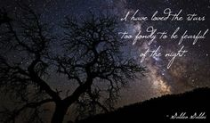 """""""I have loved the stars too fondly to be fearful of the night."""""""