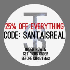 25% off EVERYTHING!!!! Only until midnight. Use code: SANTAISREAL  Don't forget today is your last chance for Christmas delivery.  #necklace #jewellery #sale #crystals #gems #quartz #gothic #flashsale #girl #alternative #fashion #womensfashion #discount #handmade #bestoftheday #giftideas #style #lilac #life #christmas #natural #pastel #photooftheday #silver #cute #instamood #picoftheday #instagood #instadaily #smile