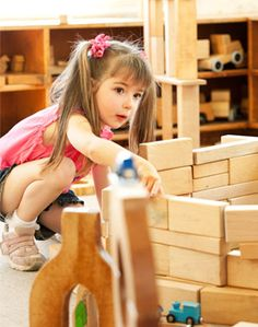 """Block Building: Opportunities for Learning. """"And in the process of experimenting and discovering, of giving form to and transforming their experiences in play, children author their own texts, create meanings, and make sense of their often mysterious and complex world of which they are a part.""""  An excellent article by Harriet Cuffaro of  Bank Street College."""