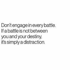Choose your battles