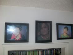 MJ and his two best friends, hanging over his bedroom closet in Allen kentucky
