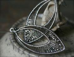 Sterling silver wire wrapped eye shaped by FlowSilverJewelry, $75.00