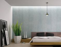 Talk about feng shui bedroom in this gorgeous modern space. By Class Lighting