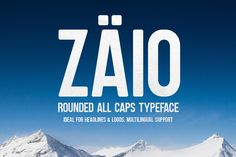 "Zaio is a new all caps rounded typeface that's great for headlines and logos. The font is inspired by ""Bebas Neue"" created by Ryoichi Tsunekawa but it was built from scratch and it has some major differences."