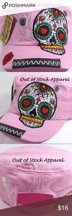 Womens Black Cadet Embroidered Patch - Rose Sugar Womens Black Cadet Embroidered Patch - Rose Sugar Skull - Light Pink Womens Light Pink Cadet Embroidered Patch - Roses -  Multi-color Sugar Skull -Dia de Los Muertos Fashion Cadet Hats for Women and Girls - Sugar Skull Attractive and Mesmerizing Design: Skull Patch with Floral Design. Excellent Quality Guaranteed. Manufactured by a professional rhinestone apparel production team. Base Color: Light Pink Popular, Lightweight, Comfortable…