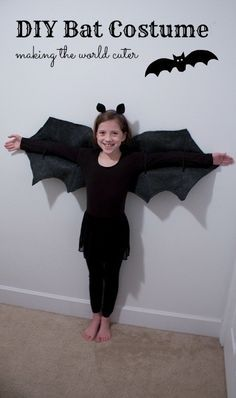 DIY Bat Costume ...going to make this for her for Halloween