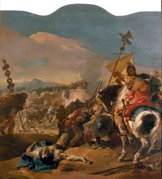 The Capture of Carthage by Giovanni Battista Tiepolo. Italian, 1725-1729, oil on canvas. Metropolitan Museum of Art