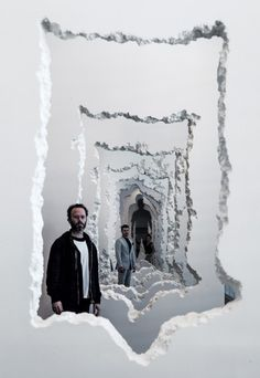 By digging through a series of faux-concrete walls, Arsham has surveyed the interaction between man and architecture.