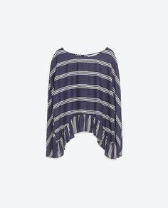 Image 8 of BLOUSE WITH FRILLED HEM from Zara