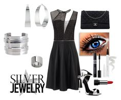Sweet Silver Jewelry by leslee-dawn on Polyvore featuring Yigal Azrouël, Giuseppe Zanotti, Chanel, Banana Republic, Vince Camuto, Pieces, Ellis Faas, Christian Dior & Kat Von D. Sweet Silver Jewelry contest submission, July 21, 2015.
