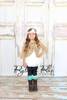 Khaki ruffle jacket for little girls by ryleighrueclothing.com