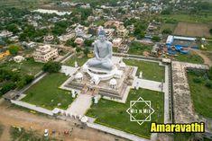 Dhyanabuddha park , Amaravathi , Guntur, Andhrapradesh by Aurobird India Budha Statue, Birds Eye View, Incredible India, Summer Tops, Statue Of Liberty, Buddha, Tourism, Vacation, Park