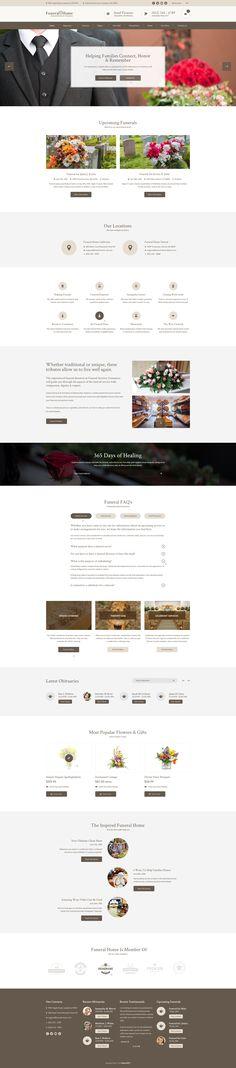 Memoria - Funeral Home PSD Template Psd templates, Funeral and - funeral announcements template