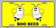 Boo Bees Vanity Metal Novelty License Plate Tag Sign