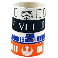 25PCS/Lot Bulk Cheap Star Wars Mix Stormtrooper Mask, R2-D2, Rebel Alliance Silicone Wristband