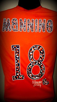LOVE Denver Broncos Football Dry Fit Tee  Peyton by HauteJersey, $45.00