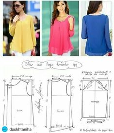 Sewing Make Your Own Clothes 2019 Blouse pattern The post Sewing Make Your Own Clothes 2019 appeared first on Chiffon Diy. Dress Sewing Patterns, Blouse Patterns, Sewing Patterns Free, Clothing Patterns, Blouse Designs, Free Pattern, Pattern Ideas, Pattern Sewing, Make Your Own Clothes