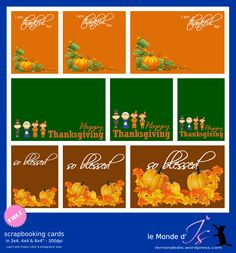 Mini Albums, Happy Thanksgiving, Project Life, Scrapbook Cards, Projects, Printables, Fall, Small Gifts, Cards